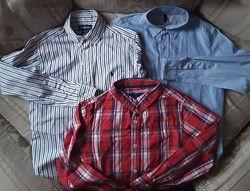 Фирменные рубашки для школы и не только на 9-11 лет 134-146