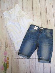 Красивые джинсовые шорты на девочку на 7-8лет