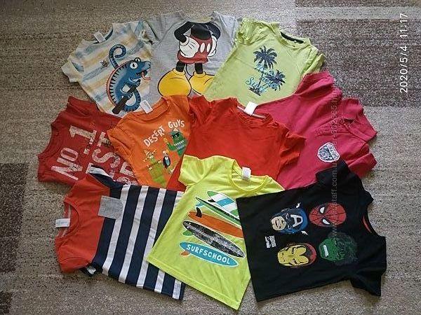 Фирменные футболки на мальчика 4-5 лет