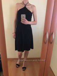 Черное коктейльное платье Polo Garage