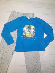 Хлопковая пижама на девочку 122-128 см с рисунком bibi&tina