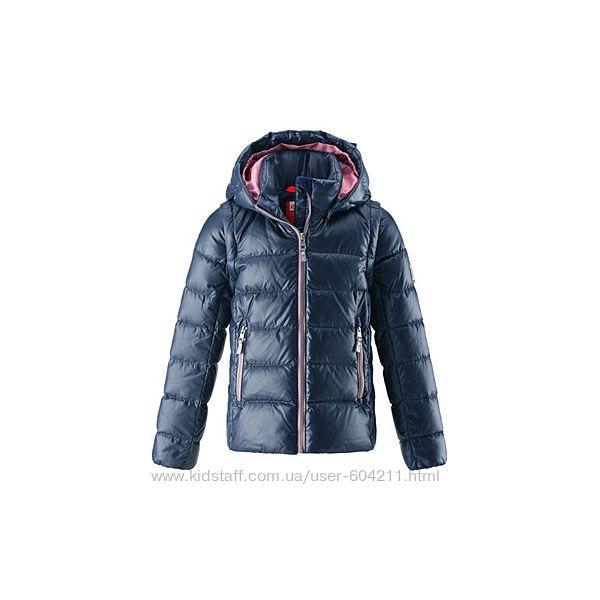 Куртка-житет 2в1 пуховая зимняя Reima Minna 128р и 152 новая