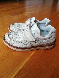 Кожаные ортопедические туфли, мокасины на девочку , р. 28, 17 см