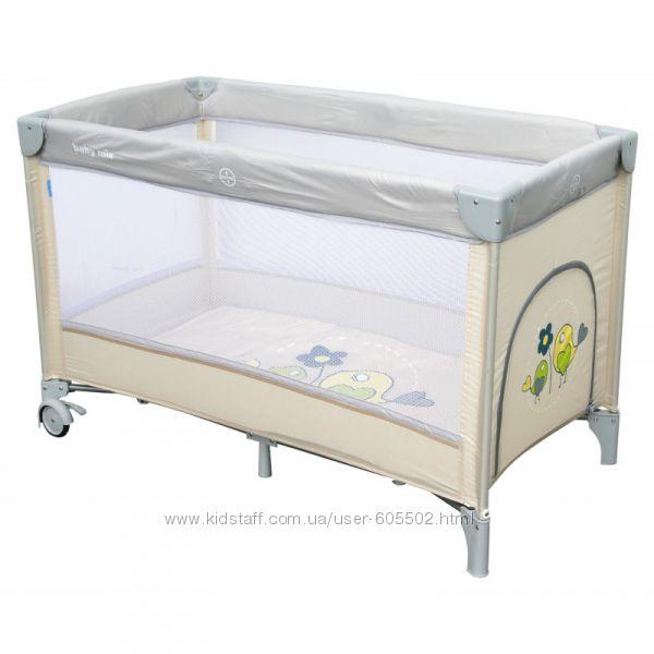 Манеж-кровать Baby Mix Воробышки