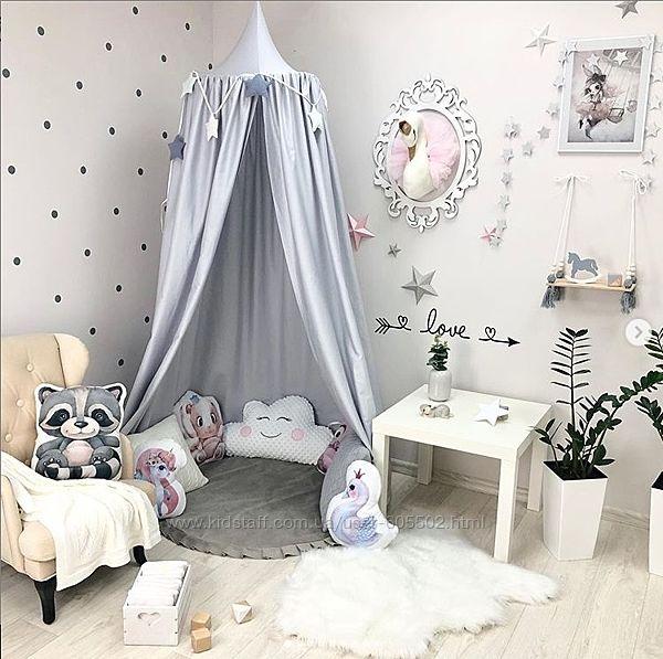 Шатер, балдахин на кроватку и для детской комнаты, сказочный домик