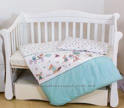 Детское постельное в кроватку 3 пр. Экохлопок. В ассортименте