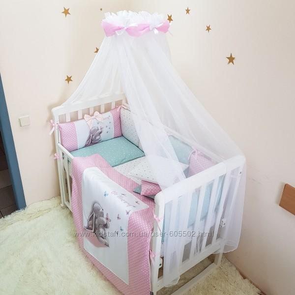 Балдахин в детскую кроватку с нежным шарфом в ассортименте