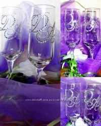 Именные бокалы на свадьбу