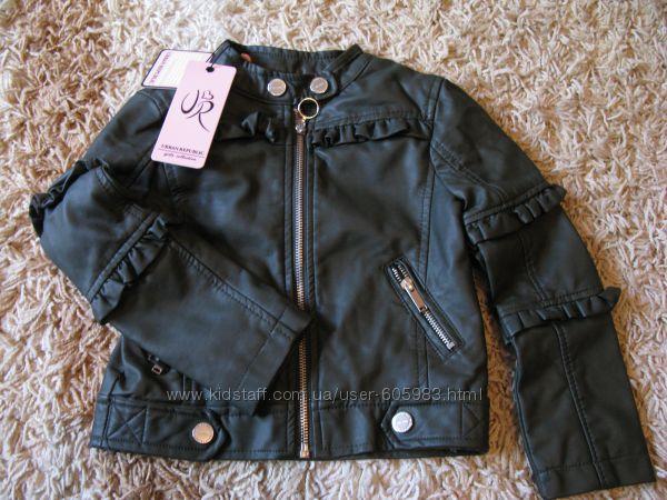 Кожанная куртка косуха 2-4 года 92-104 см urban republic
