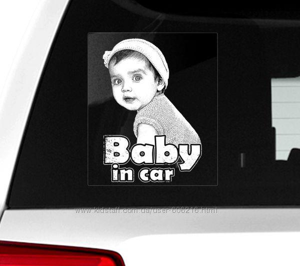 Автомобильная наклейка на стекло Baby in car Ребенок в машине