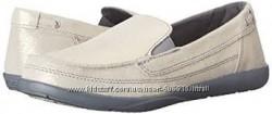 Crocs W6 замшевые  мокасины