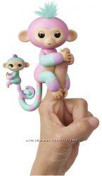 WowWee Fingerlings Baby Monkey & Mini BFFs Обезьянка с малышом