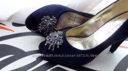 СкидкаБархатные нарядные туфли с камнями