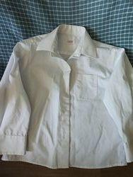 Белая рубашка для мальчика, 4-6 лет