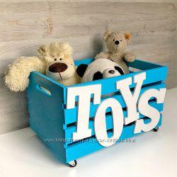 Деревянный ящик для игрушек или книг на колесиках, Shalena