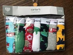 Самые удобные трусики  2 3 4 года 5 6 7 8 лет Carters Картерс детские трусы