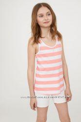 Майка летняя H&M оригинал EUR 158 164 женская XS S детская 12 13 14 15 лет