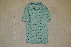 Много рубашек с коротким рукавом 3-6лет