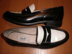 39. 5 -25. 5 см  фирменные  туфли  кожа  Clarks