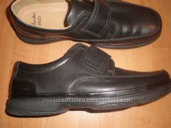 42. 5 - 28 см  кожаные  туфли ф. Clarks