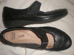 38 - 24. 7 см  туфли  ф.  Clarks   кожа