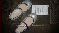 Нарядные серебрянные туфли 31-32р. Accessorize
