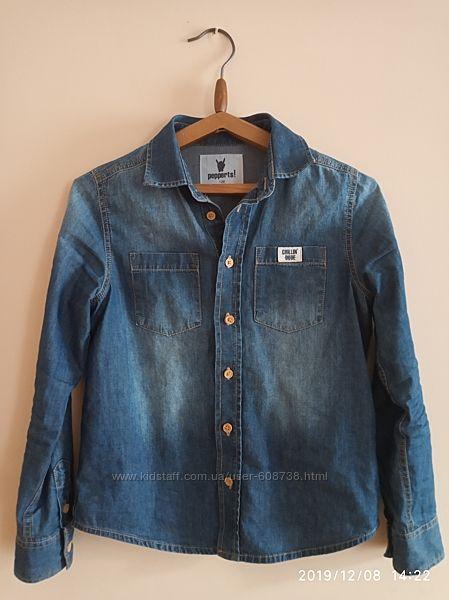 Джинсова сорочка, 7-8р, 122-128 см