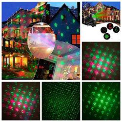 Лазерный проектор уличный комнатный новогодний лазер с пультом