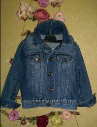 Джинсовая куртка benetton на 4-5 лет рост до 110 см