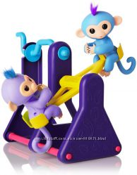 WowWee Fingerlings Playset  See-Saw with 2 Fingerlings Baby Monkey Toys