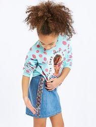 Джинсовая юбка-Паетки хамелеон-140и146- Джинсовые Юбки 98--134см LС Waikik