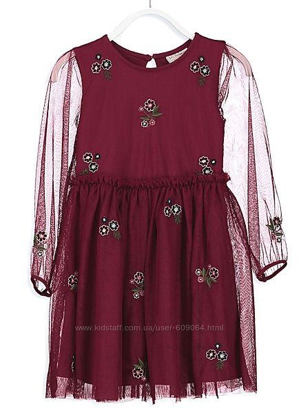 Тюлевое Платье-хлопк. подкладка-128и134см-Нарядные Платья 116-146-LC Waikik