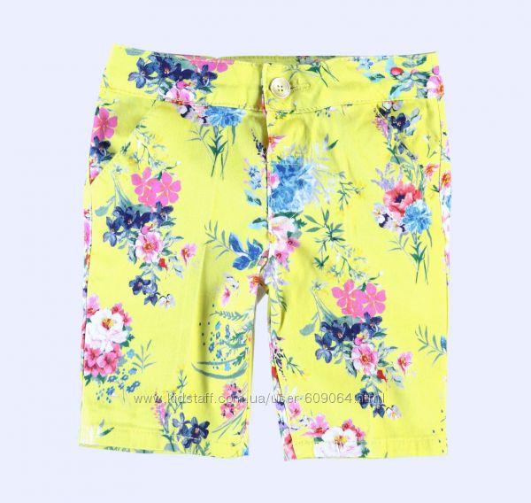 Хлопковые Шорты-Цветы-110и116- Waikiki- Хлопковые /Джинсовые Шорты 110-152