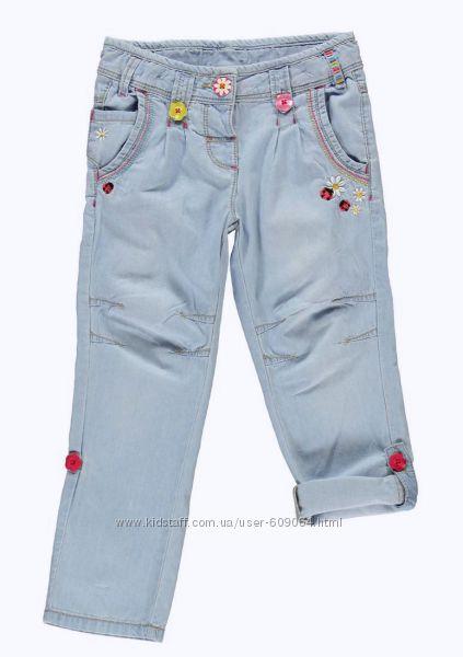 Джинсы-Капри/Вышивки-110и116см- LC Waikiki Джинсы-Катоновые Брюки 104--116