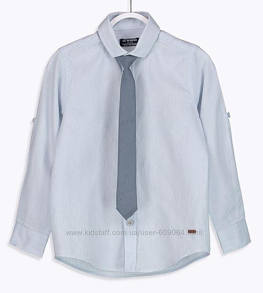 Рубашка/Галстук-Рукав подстег.122,134,146- Нарядные Рубашки 116-146-Waikiki