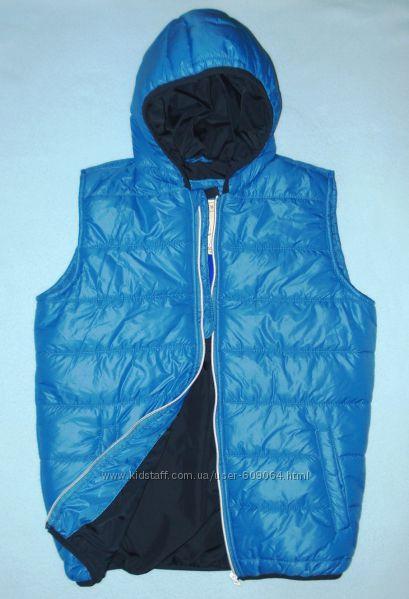 Синий Теплый Жилет LC Waikiki для мальчика 146-152см-Хлопковая подкладка