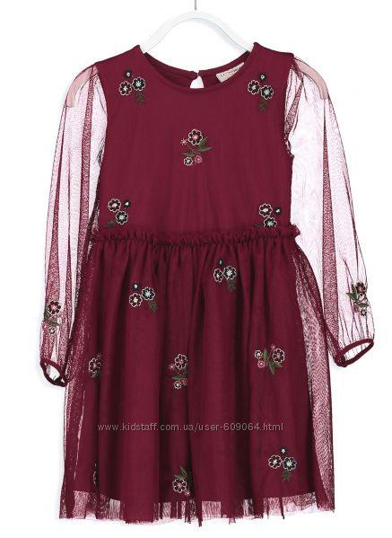 Нарядное Платье-Хлопок/тюль-128и134-Нарядные Летние Платья-116--160-Waikiki