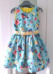 Нарядное Платье-Вырез Сердце/Пояс-122- Нарядные Платья 110--152см- Waikiki