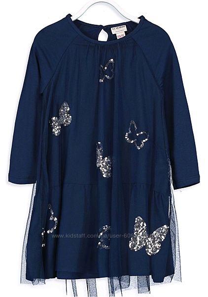 Нарядное Платье-Хлопок/ тюль-122--160см- Waikiki- Нарядные Платья 116--158