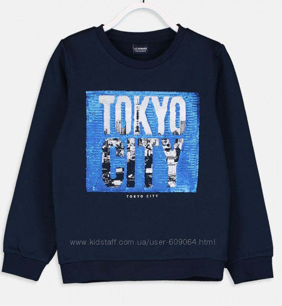 Свитшот-Токио/паетки-128-134-140см-Свитшоты и Джемпера 104-134-LC Waikiki