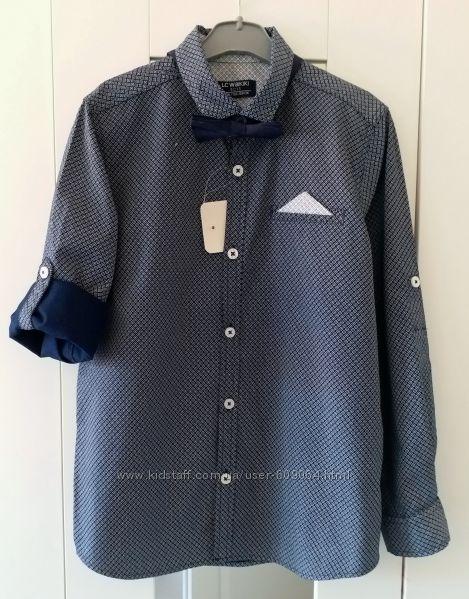 Стильная Синяя Рубашка-122и128- Нарядные/ Школьные Рубашки-Waikiki 116-152