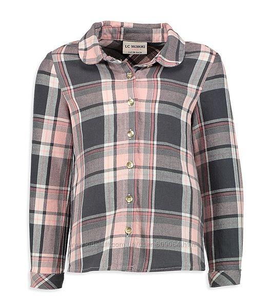 Рубашка-Хлопк. фланель-122-146см- Хлопковые Рубашки Девочкам-122-146-Waikik