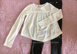 Нежная белая кофточка H&M на девочку 140 см
