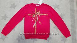 Нарядный свитер HM на девочку с паетками
