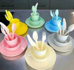 Супер набор детской посуды IKEA KALAS