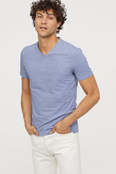 H&M футболка мужская slim fit, S