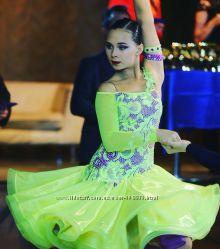 Очень красивое бальное платье латина на девочку 12-13 лет р. 158-160 cм