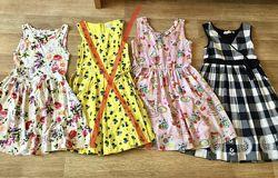 Платья летние Фирменные на девочку 9-10 лет 140-150 см