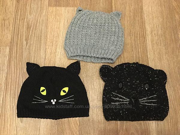 Классные деми шапочки с ушками, зимние и шарфы на 7-10 лет