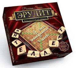 Настольная игра Danko Toys, Эрудит премиум, scrabble, деревянный